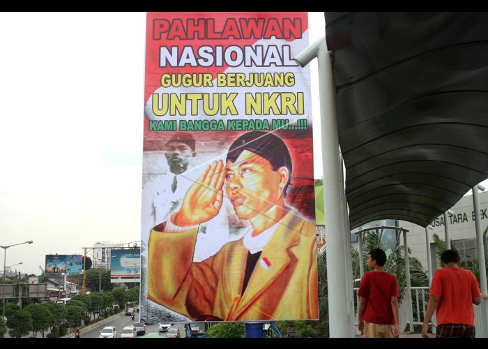 Baliho Bertema Pahlawan Nasional Antara Foto
