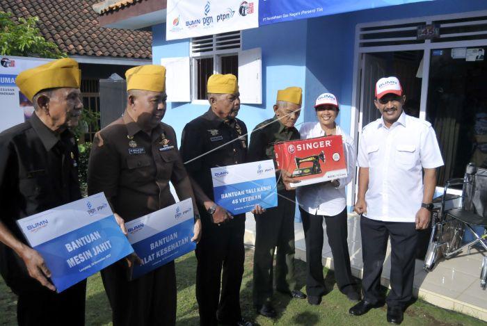 Bedah Rumah Veteran Lampung Antara Foto