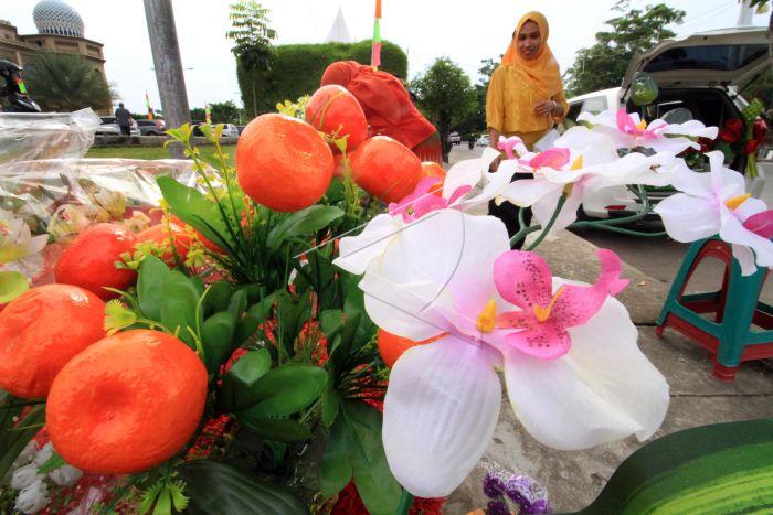 Bunga Hias Plastik Antara Foto