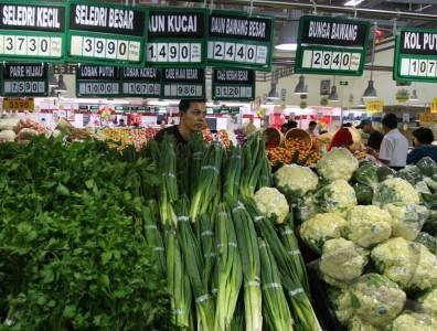 harga sayur tinggi.