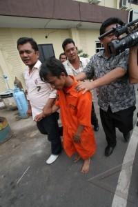 tersangka pemerkosaan di becak