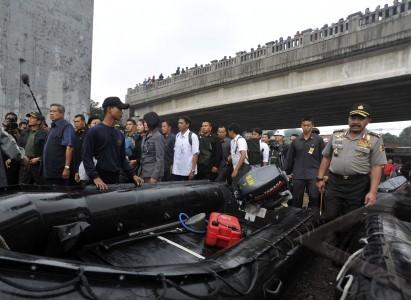 Jakarta 17 1 presiden sby inspeksi banjir presiden susilo bambang