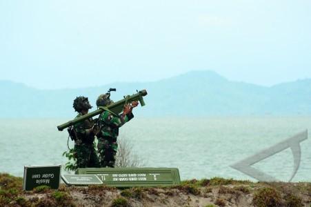 penembakan persenjataan udara hanud paskhas