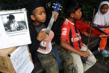 Anak anak jalanan yang diasuh kelompok perempuan mandiri kpm dewi