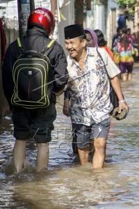 lebaran di tengah banjir
