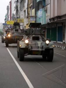 Denkav 5/BLC - Kodam XVI Pattimura Bantu Polisi Amankan Ambon