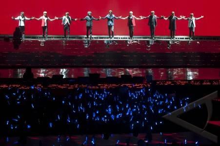 Foto Konser Super Junior di Jakarta 2012