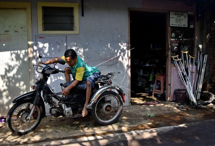 Jasa Modifikasi Sepeda Motor Difabel Antara Foto