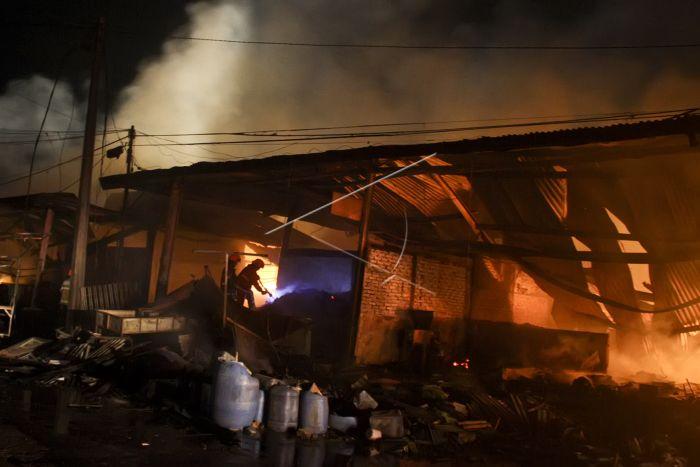 Kebakaran Pasar Gedebage Bandung | ANTARA Foto