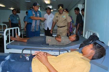 KRI dr Soeharso-990 Laksanakan operasi Bhakti Surya Bhaskara Jaya