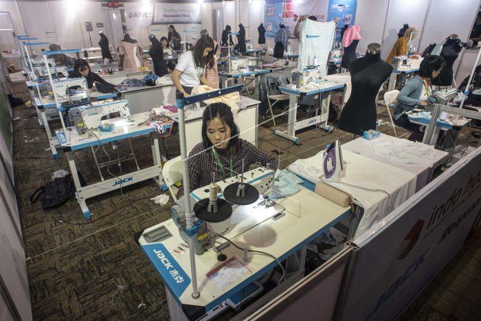 Pameran Industri Tekstil   ANTARA Foto