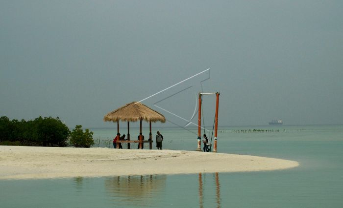 Pantai Perawan Pulau Pari Antara Foto
