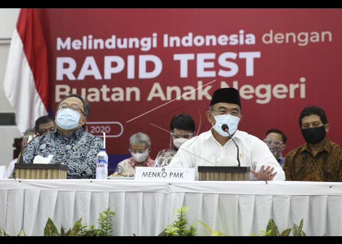 Peluncuran Alat Tes Cepat Covid 19 Buatan Indonesia Antara Foto