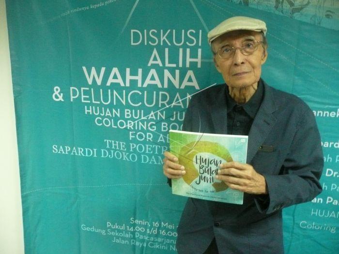 Peluncuran Buku Mewarnai Puisi Sapardi Djoko Damono Antara Foto