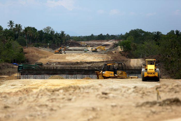 Pembangunan Jalan Tol Banda Aceh Sigli Antara Foto