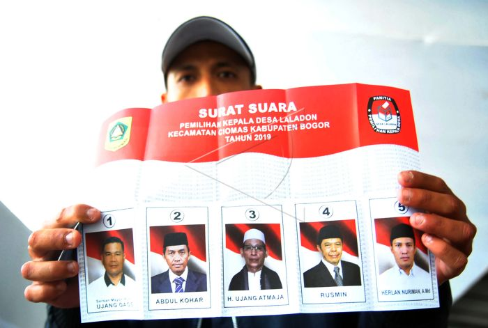 Pilkades Serentak Kabupaten Bogor Antara Foto