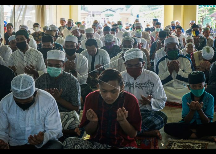 Shalat Id Berjamaah Saat Pandemi Covid-19 | ANTARA Foto